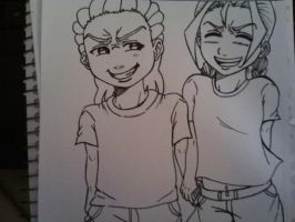 Riley and Cindy by Millie-Rose13