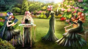 Commission: English Garden by galia-and-kitty