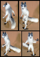 Marble Fox OOAK Doll: For sale by FeralFacade