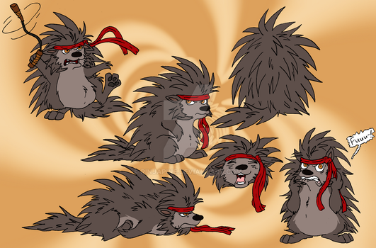 Rinjapine Redux: Rin, the Ninja-Fighting Porcupine by Rinjapine
