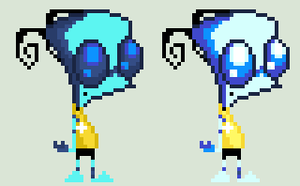 Invader Zim OC's : Val Sprites v.2 by HonorAmongScars