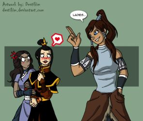 Korra - the new avatar in town by Azutara