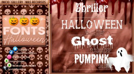 ~.Pack de fonts {Halloween} by ISirensDesigns