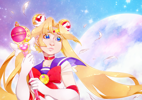 Sailor Moon by Nutmegnog
