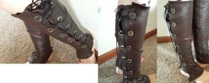Leather Steampunk Gaters/Spats by CaptainMorganTeague