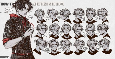 HOW TO: Face Expressions Reference by Valentina-Remenar