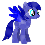 Blue Star as a Crystal pony (Request) by LR-Studios