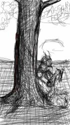 tree challenge sketch by fraterm