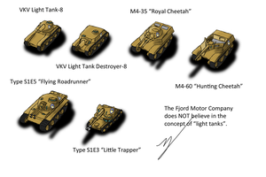 Equestrian Light Tanks and Light Tank Destroyers by ZatGeneral