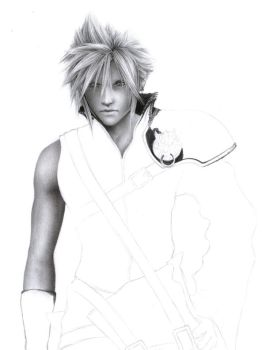 Cloud Strife WIP 2 by D17rulez