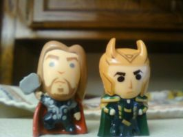 Thor and Loki by AomiArmster