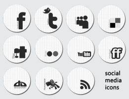 social media icons by ziyaklon