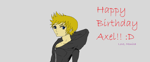 Roxas- Birthday present by PaperPiano
