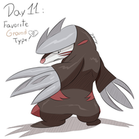 POKEDDEXY challenge - Day 11: Excadrill by Zaprong