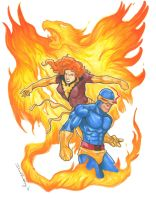 Phoenix and Cyclops by DKHindelang