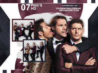 Photopack PNG Supernatural Cast by youremyonlydream
