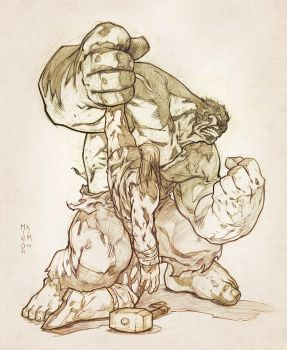 Hulk vs Thor by MinohKim