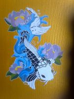 Japanese style Koi painting by Tallonis