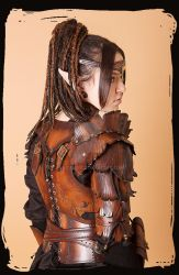 Wood Elven Armor woman by Lagueuse