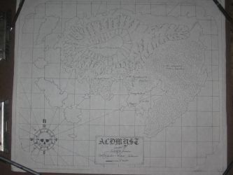Sea Chart of Aldmyst Island by magustaliesin