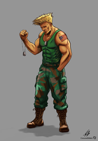 STREET FIGHTER II: Guile (COLOR) by CrescentDebris