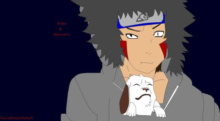 Kiba and Akamaru by XxLatiasLatiosxX