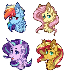 Fanart - Mane 6 [2]   Stickers by SilentWolf-Oficial