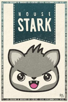 Game of Thrones Stark kawaii house banner by jaleh