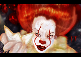 Pennywise the Clown IT 2017 Fanart Boat Scene by Amanomoon