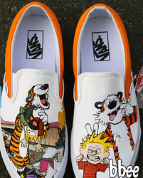 Calvin and Hobbes Vans by ajdv