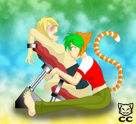 GIFTART: Zack and Cali by CheshireCaterling