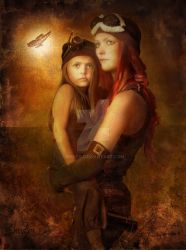 Steam Punk mother n child by o0neo