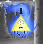 Bill Cipher [FanArt] by TheChaoticMuffin