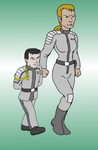 Admiral Naismith and Sergeant Taura by jay042