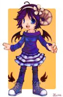 Chibi with Horns by catzzzrule
