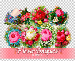 Flower Bouquets PNGs by Bellacrix