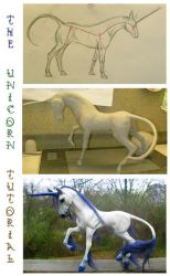 Unicorn Sculpture Tutorial by SovaeArt