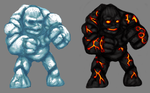 Ice Lava Golems by CosbyDaf