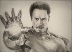 Tony Stark as Iron Man  by VKCole