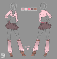 ..::Commission::.. Female Sexy School Uniform by Izumi-sen