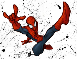 Spidey Sketch Colored by Quantum-Art