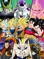 Dragon Ball Z + GT SSJ Forms and Main Villains by GizmoGamer2000