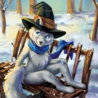 A Frosty Place To Rest - SpeedPaint by GoldenDruid