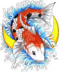 Fish koi by EROS-ARISTOTELES-ART
