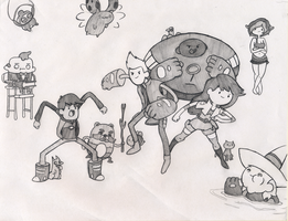 Bravest Warriors Sketch by Saber-Cow
