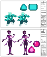 Hauyne Fusions- Dioptase and Mangan by XombieJunky