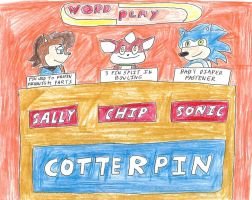 Sally, Chip, and Sonic on WordPlay by dth1971