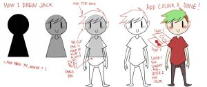 -tutorial- How I usually drew Jack by Vey-kun