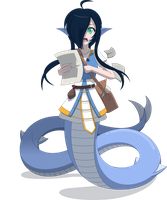 Aqua, the Lamia Cleric by Zacatron94