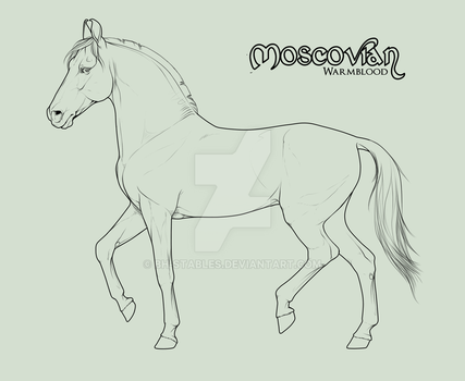 Moscovian Mare official lineart - section C by BH-Stables